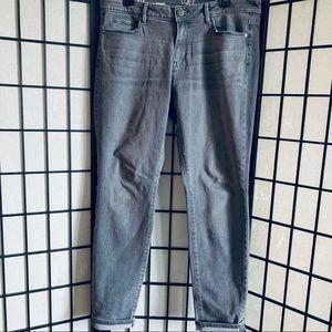 Loft curvy skinny grey jeans sz 12